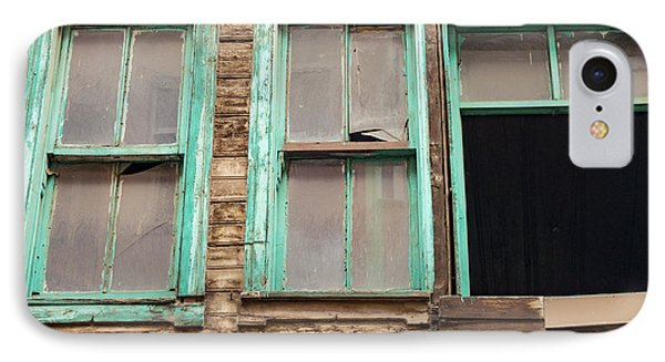 Green Window Frames IPhone Case by Bob Phillips