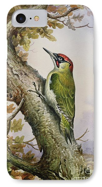 Green Woodpecker IPhone Case by Carl Donner