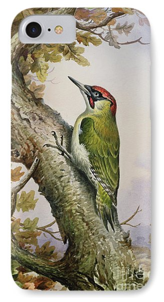 Green Woodpecker IPhone 7 Case by Carl Donner