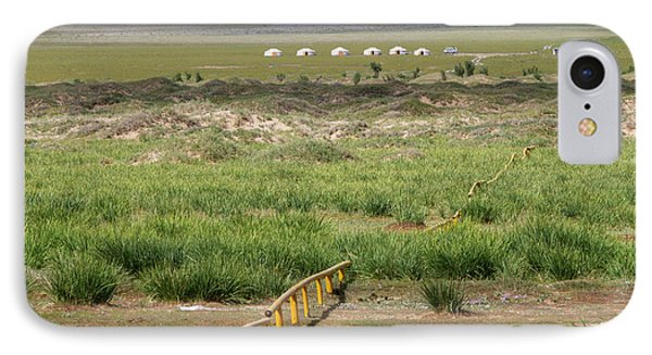 IPhone Case featuring the photograph Greenery In Desert, Gobi, 2016 by Hitendra SINKAR