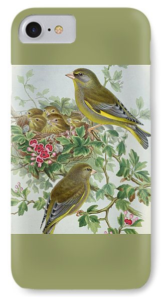 Greenfinch IPhone 7 Case by John Gould