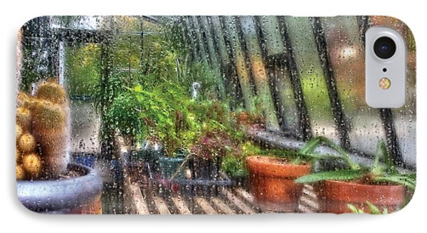 Greenhouse - In A Greenhouse Window  IPhone Case by Mike Savad