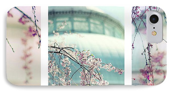 IPhone 7 Case featuring the photograph Greenhouse Blossoms Triptych by Jessica Jenney