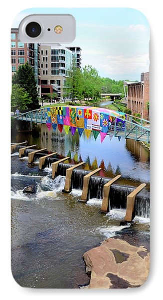 IPhone Case featuring the photograph Greenville River Walk by Corinne Rhode