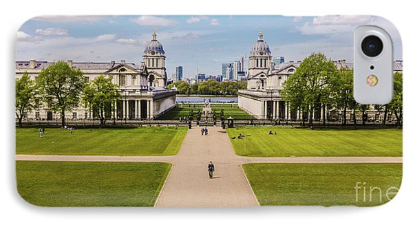 Greenwich Park And The Old Royal Naval College England IPhone Case by Lexa Harpell