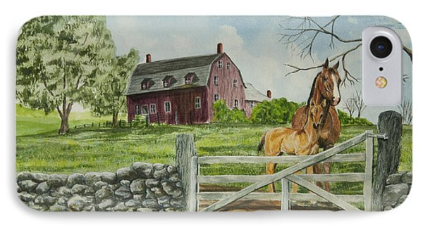 Greeting At The Gate Phone Case by Charlotte Blanchard