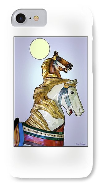 Greeting The Moon IPhone Case by Lise Winne