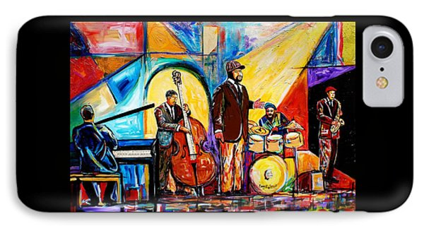 Gregory Porter And Band IPhone Case by Everett Spruill