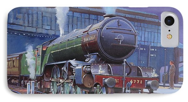 IPhone Case featuring the painting Gresley Green Arrow Class. by Mike  Jeffries
