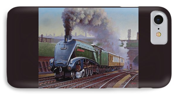 IPhone Case featuring the painting Gresley Pacific A4 Class. by Mike  Jeffries