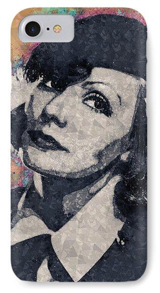 Greta Garbo Illustration IPhone Case