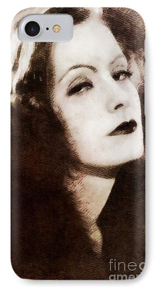 Greta Garbo, Vintage Actress By John Springfield IPhone Case