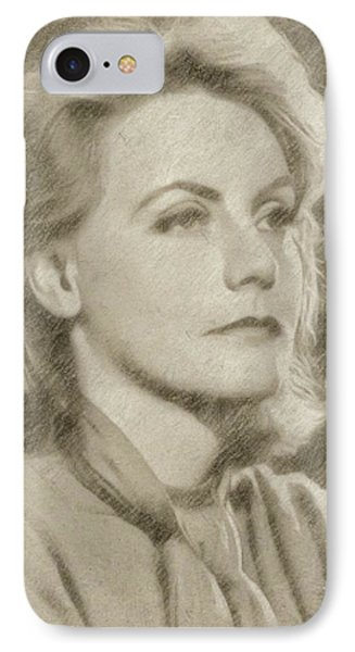 Greta Garbo Vintage Hollywood Actress IPhone Case by Frank Falcon