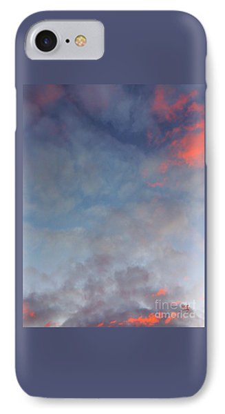 Pink Flecked Sky IPhone Case by Linda Hollis