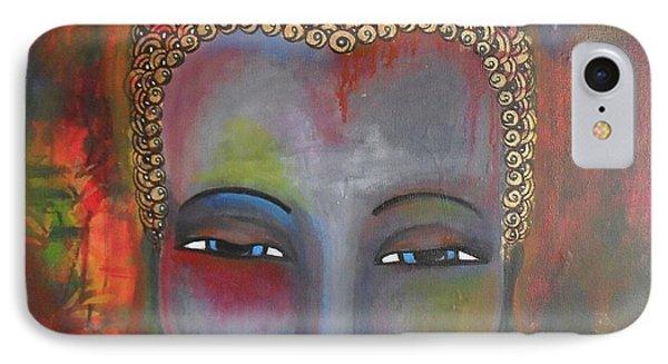 Grey Buddha In A Circular Background IPhone Case