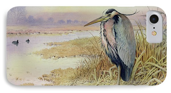 Grey Heron IPhone Case by John James Audubon