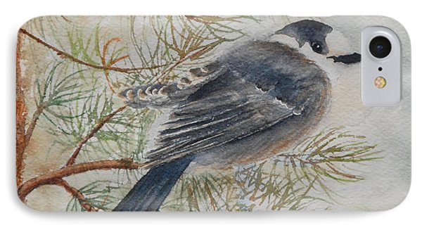 Grey Jay IPhone Case by Ruth Kamenev