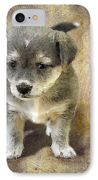 Grey Puppy Phone Case by Svetlana Sewell