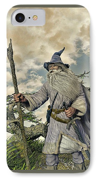 Grey Wizard II IPhone Case by Dave Luebbert