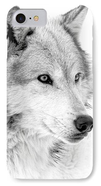 Grey Wolf Profile IPhone Case by Athena Mckinzie