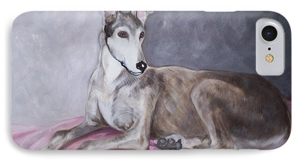 Greyhound At Rest IPhone Case by George Pedro