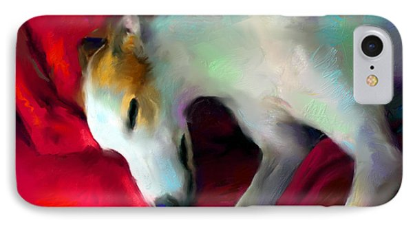 Greyhound Dog Portrait  IPhone Case by Svetlana Novikova