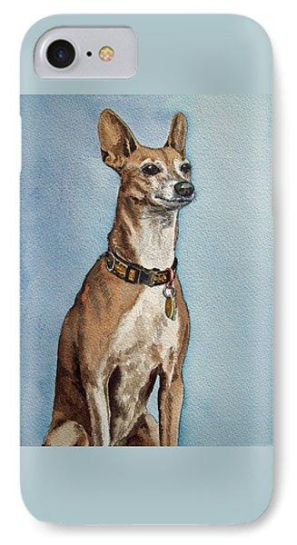 Greyhound Commission Painting By Irina Sztukowski IPhone Case by Irina Sztukowski