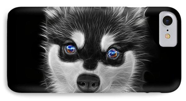 Greyscale Alaskan Klee Kai - 6029 -bb IPhone Case by James Ahn