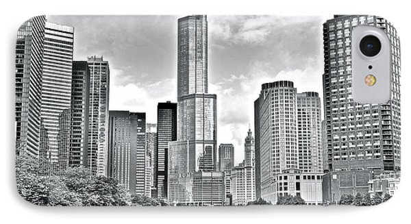 Greyscale Of The Windy City IPhone Case
