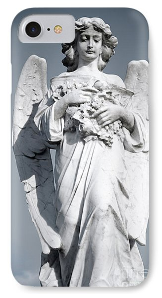 Grieving Angel On The Old Graveyard Phone Case by Yurix Sardinelly