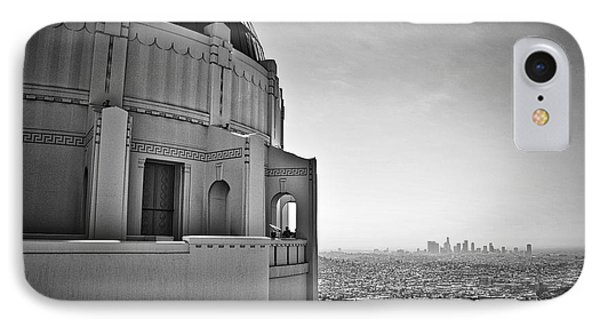 Griffith Observatory And Downtown Los Angeles IPhone Case by Kirt Tisdale