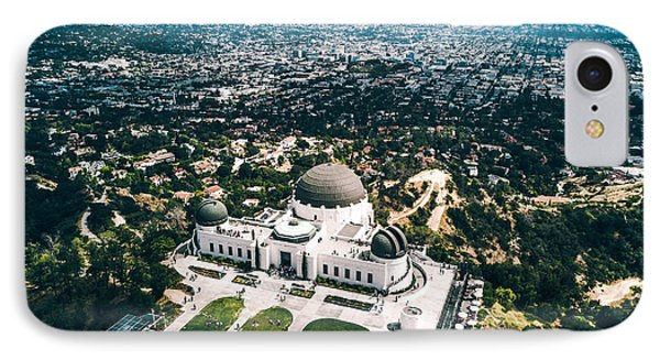 Griffith Observatory And Dtla IPhone Case