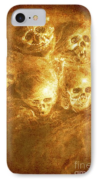 Grim Tales Of Burning Skulls IPhone Case by Jorgo Photography - Wall Art Gallery