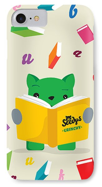 Grinchy And Books IPhone Case