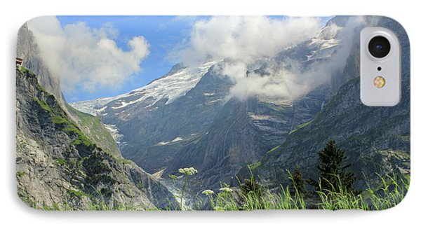Grindelwald Glacier In Switzerland Phone Case by Pixelshoot Photography
