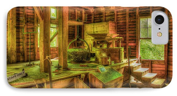 IPhone Case featuring the photograph Grindingworks Mingus Mill Great Smoky Mountains Art by Reid Callaway