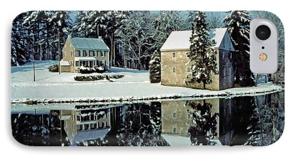 Grings Mill Snow 001 IPhone Case by Scott McAllister