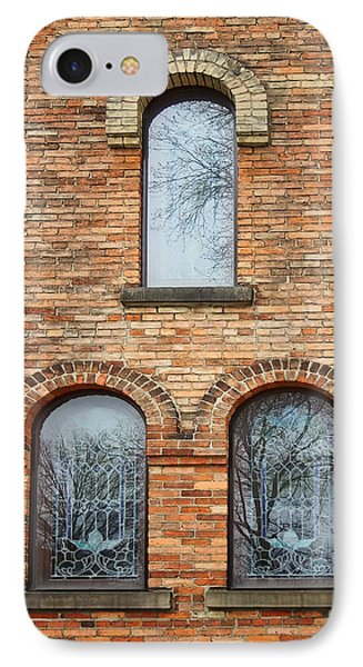 Grisaille Windows - First Congregational Church - Jackson - Michigan IPhone Case by Nikolyn McDonBell Tower - First Congregational Chuald