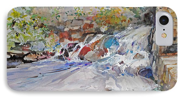 Grist Mill Spill Way IPhone Case by P Anthony Visco