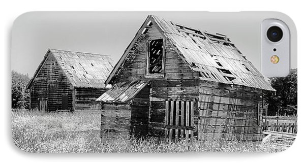 Grizzled Acres In Black And White IPhone Case by Kandy Hurley
