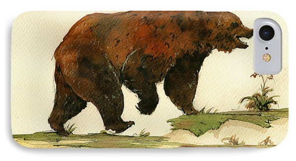 Grizzly Bear Art IPhone 7 Case