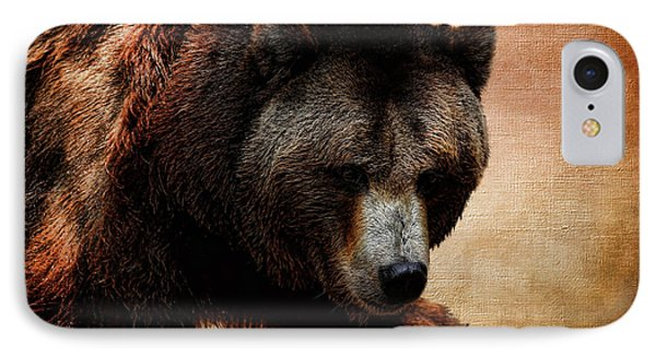 Grizzly Bear IPhone Case by Judy Vincent