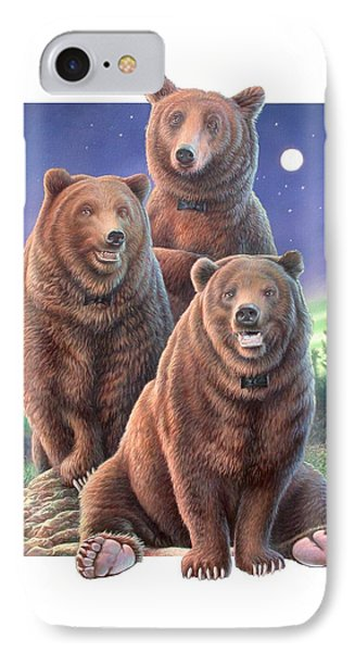 Grizzly Bears In Starry Night IPhone Case