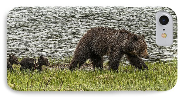 IPhone Case featuring the photograph Grizzly Family by Yeates Photography