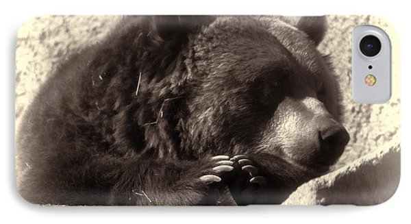 Grizzly Portrait IPhone Case by Erica Hanel