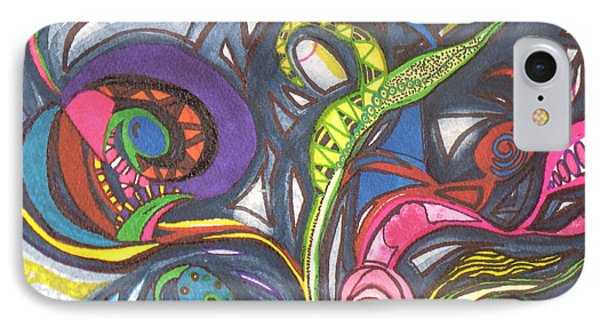IPhone Case featuring the painting Groovy Series by Chrisann Ellis