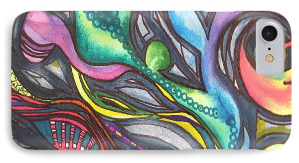 IPhone Case featuring the painting Groovy Series Titled My Hippy Days  by Chrisann Ellis