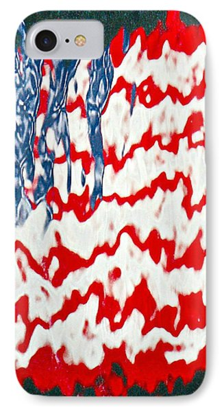 IPhone Case featuring the photograph Ground Zero Reflection Of The American Flag by Lorella  Schoales