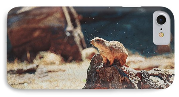 Groundhog Watch IPhone Case by Anna Louise