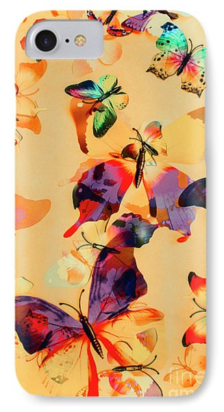 Group Of Butterflies With Colorful Wings IPhone Case